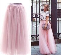 15 Colors - 7 Layers Long Skirt Womens Maxi Vintage Petticoat Falda Skirt