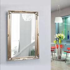 Medium Vintage Wall Floor Mirror Silver Antique Style Shabby Chic Decor 27x37cm