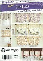 Simplicity 0712 Window Treatments   Home Decor  Pattern
