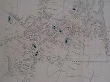 Abington Map-1874 Original Antique MA Massachusetts Handcolored Old Atlas Mass