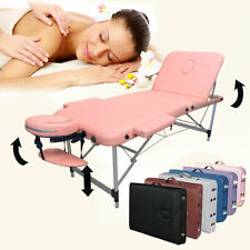 "3-Section Aluminum 84""L Portable Massage Table Facial Tattoo Spa Bed Sakura Pink"