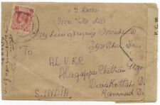 "Burma 1945 Cover to India w/""MILY ADMN"" 2a, India Censor Label & h/s"