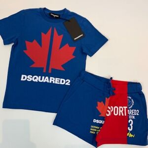 DSQUARED2 Kids Boys Blue Top & Shorts Set BNWT Age 14 Years
