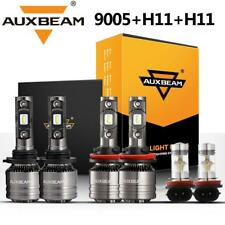 AUXBEAM H11 9005 H11 LED Headlight Conversion Kit High Low Beam Fog Light 6000K