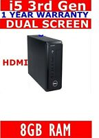 DELL i5  3rd GEN COMPUTER PC 8GB RAM USB3 2TB HDD HDMI WINDOWS 10 WIFI READY