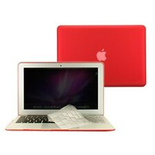 3 in 1 Rubberized RED Case for Macbook AIR 11 A1370 + Key Cover + LCD Screen