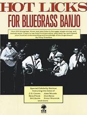 Hot Licks for Bluegrass Banjo Sheet Music Book NEW 014015428
