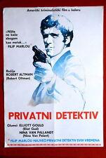 LONG GOODBYE ROBERT ALTMAN ELLIOTT GOULD 1973 RARE EXYU MOVIE POSTER
