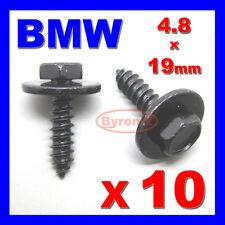 BMW SELF TAPPING TAPPER SCREW & WASHER 4.8 x 19 mm BLACK 8mm HEX HEAD