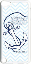 Chevron Faith Anchor with Psalm 147:11 on iPod Touch 5th Gen 5G White TPU Case