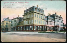 NORTH ATTLEBORO MA Emerson House Antique Postcard Early Old Vtg Town View PC