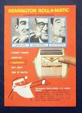 B903-Advertising Pubblicità-1959 - REMINGTON ROLL A MATIC