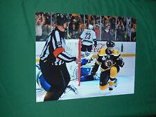 Boston Bruins Daniel  Pialle Autographed 8x10 Stanley Cup Action Photo