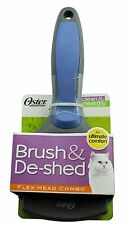 Oster Brush & De-shed Flex Head Combo - 2 in 1 grooming tool for cats