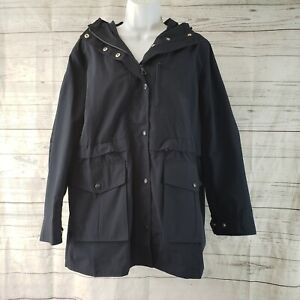 J Crew Womens Perfect Lightweight Jacket Sz Small Blue Zips and Snaps