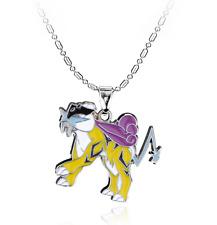 Pokemon Keychain Entei Raikou Suicune Lugia Ho-Oh Silver Chain Pendant Necklace