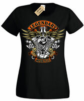 Legendary Motorcycles T-Shirt motorbike biker rider motorcycle Womens Ladies