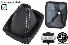6 Velocità Bianco Stitch Ghetta Cambio in Pelle + telaio in plastica per Ford Kuga 08-2012