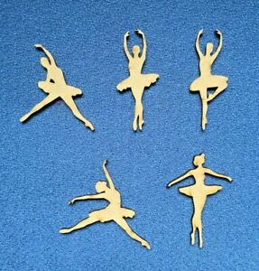 Wooden MDF  Ballerina blank craft shapes embellishment 7cm and 10cm high