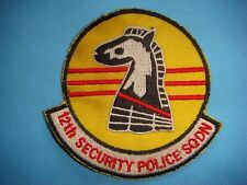 VIETNAM WAR PATCH, USAF 12th SECURITY POLICE SQUADRON