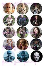 15 Precut Game Of Thrones Danearis Aria Sansa Brienne WWKIng Bottle Cap Images