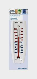 "Taylor 7-5/8"" Indoor & Outdoor Tube Thermometer Wall-Mounted Temperature 5154"