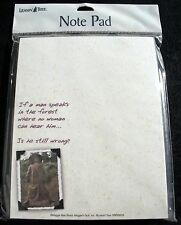 New LEANIN' TREE Note Pad If A Man Speaks Is He Wrong? SNP63025 Maggie May Sharp