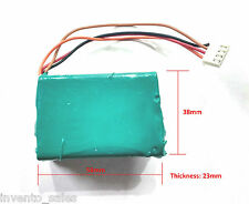 12V 1200 mAh Polymer Li-ion rechargeable battery For GPS iPod Tablet PC Drones