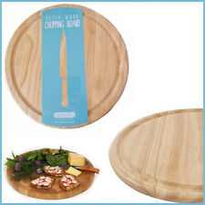 Apollo Round Wooden Chopping Board 1.5x25CM Cutting Chop Food Veg Bread Chopper