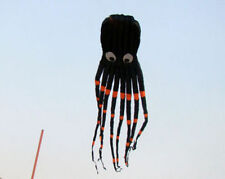 3D 26ft 8m Black 1 Line Stunt Parafoil Octopus POWER Sport Kite outdoor toy 2016
