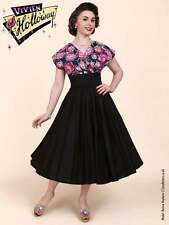 Cotton V Neck Cap Sleeve 50's, Rockabilly Dresses for Women