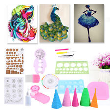 19pcs Quilling Paper Rolling Kit Slotted Tools Tweezer Ruler For Home Decoration