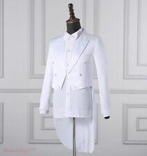 Mens Suit Coat Pants Jackets Tuxedo Wedding Evening Party Formal Dance Dress New
