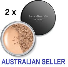 2 X Bare Minerals Original SPF 15 Loose Powder Foundation 8g bareMinerals Fairly Light Matte Tinted Mineral Veil