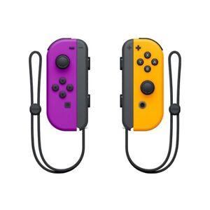 Brand New Joy Con Controllers Purple Orange W/ STRAPS for the Nintendo Switch