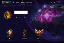 League of Legends EUW smurf account GOLD 5