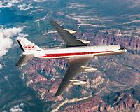 TRANS WORLD AIRLINES CONVAIR 880 IN FLIGHT 8x10 SILVER HALIDE PHOTO PRINT