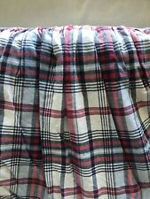 "Ralph Lauren Cape May Twin Bedskirt Red White Blue Madras Plaid 14"" Drop Cotton"