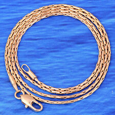 20inches Yellow Gold Plated Chain Thin Link Necklace Birthday Class Lucky Women