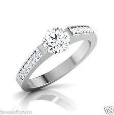 14k White Gold Diamond Round Brilliant Cut New Rings Engagement Ring Solitaire