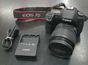 Canon EOS 7D with 18-85mm Lens Speedlite 430EX Flash 16GB Sandisk BARGAIN