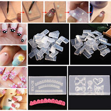 DIY Nail Art Tips 3D UV GEL Acrylic Powder Silicone Mould Set Nail Design.US