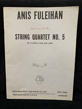 FULEIHAN, ANIS - String Quartet #5 (1971) - SCORE - SOUTHERN MUSIC - NOS