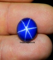 6.00 Ct Ring Size Natural Blue Star Sapphire 6 Rays Oval Cabochon Loose Gemstone