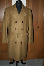 VTG Men's Saks Fifth Avenue Mohair Wool Trench Coat 44 *1950s* IMMACULATE