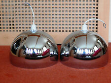 2 Chrome Large Industrial, Vintage Retro, Style Light Shades