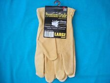 Midwest Premium Leather Gloves for Carpentry, Construction Rugged Size: Large