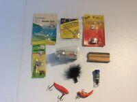 Vintage Fishing Fisherman Tackle Lure Tackle Box Lot #12