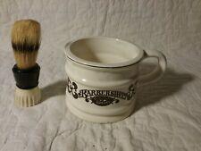 Vintage Stag Shaving Brush - Bakelite & Barbershop Shaving Mug