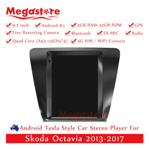 """9.7"""" Android 10.1 Tesla Style stereo Car Player GPS For Skoda Octavia 2013-2019"""